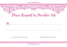 custom response cards - bright pink - casablanca (set of 10)