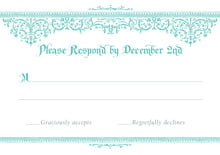 custom response cards - aruba - casablanca (set of 10)