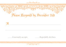 custom response cards - tangerine - casablanca (set of 10)