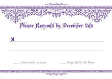 custom response cards - plum - casablanca (set of 10)