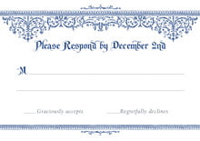 custom response cards - deep blue - casablanca (set of 10)