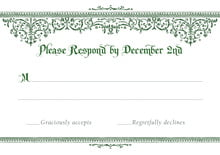 custom response cards - deep green - casablanca (set of 10)
