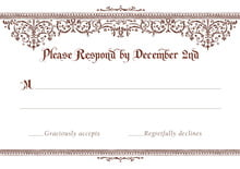 custom response cards - chocolate - casablanca (set of 10)