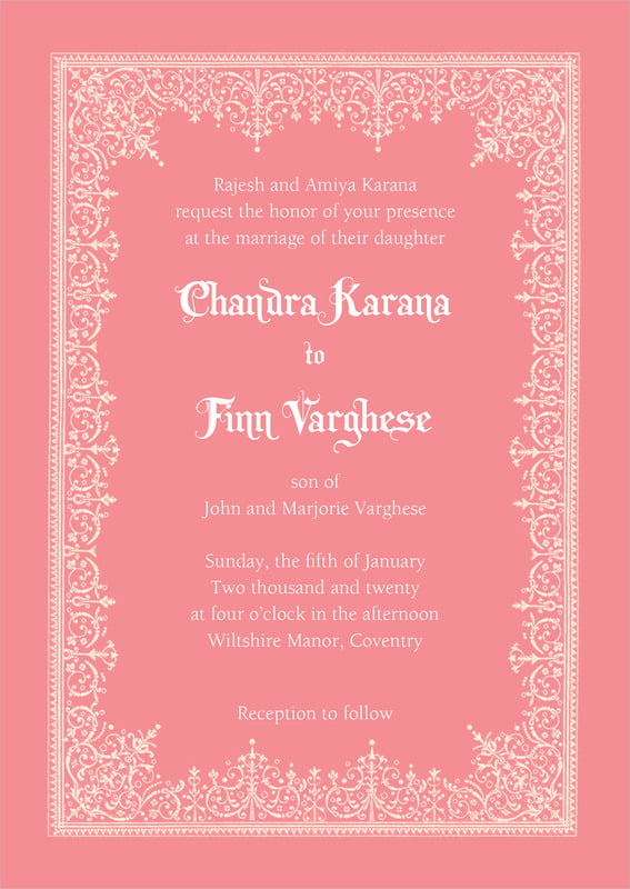 custom invitations - grapefruit - casablanca (set of 10)