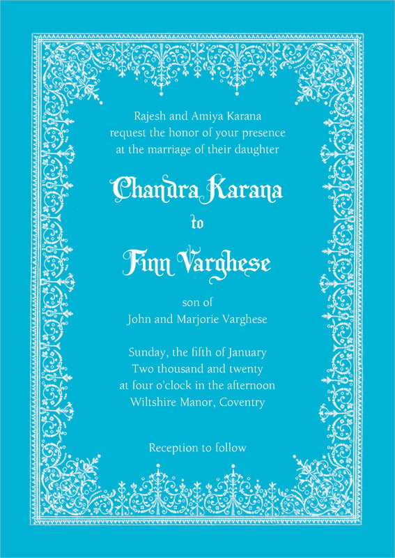 custom invitations - sky - casablanca (set of 10)