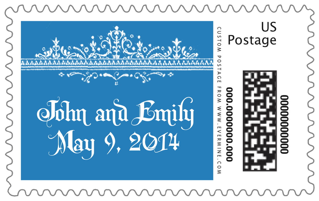 custom large postage stamps - blue - casablanca (set of 20)