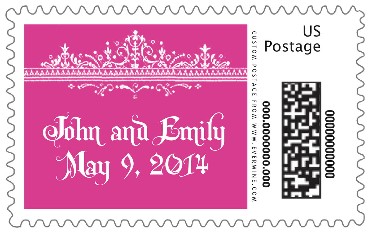 custom large postage stamps - bright pink - casablanca (set of 20)