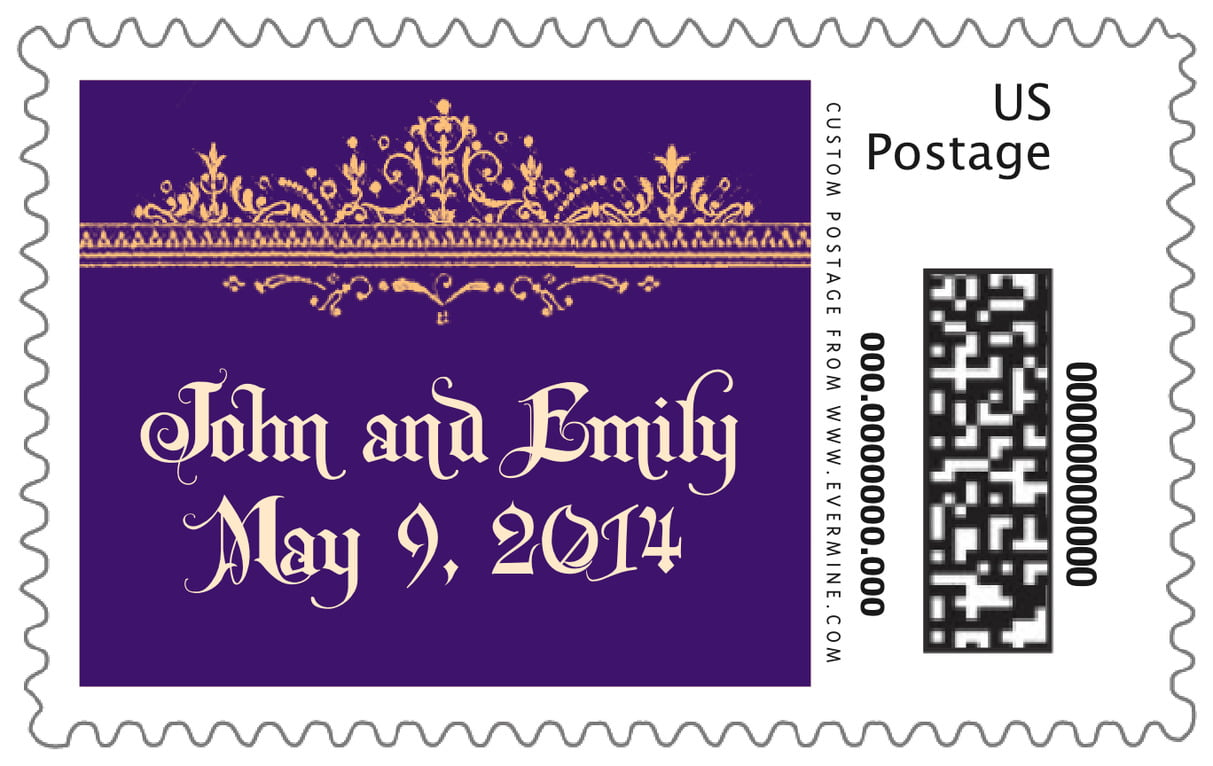 custom large postage stamps - plum - casablanca (set of 20)