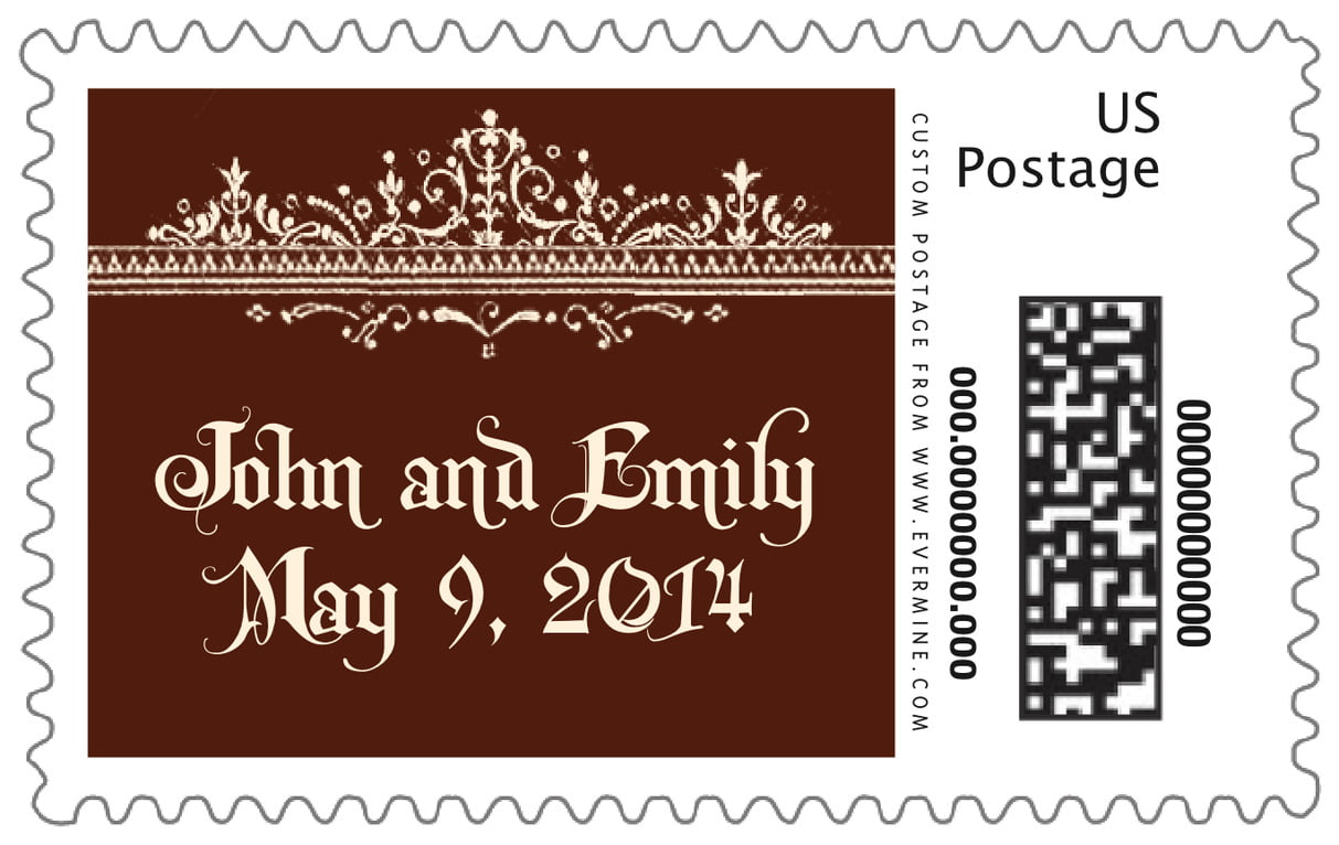 custom large postage stamps - chocolate - casablanca (set of 20)