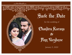 Casablanca save the date cards