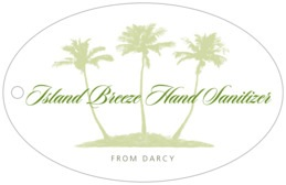Coco Palms wide oval hang tags