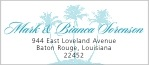 Coco Palms designer address labels