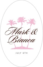 Coco Palms tall oval labels