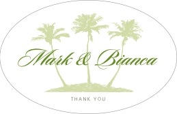 Coco Palms large oval labels
