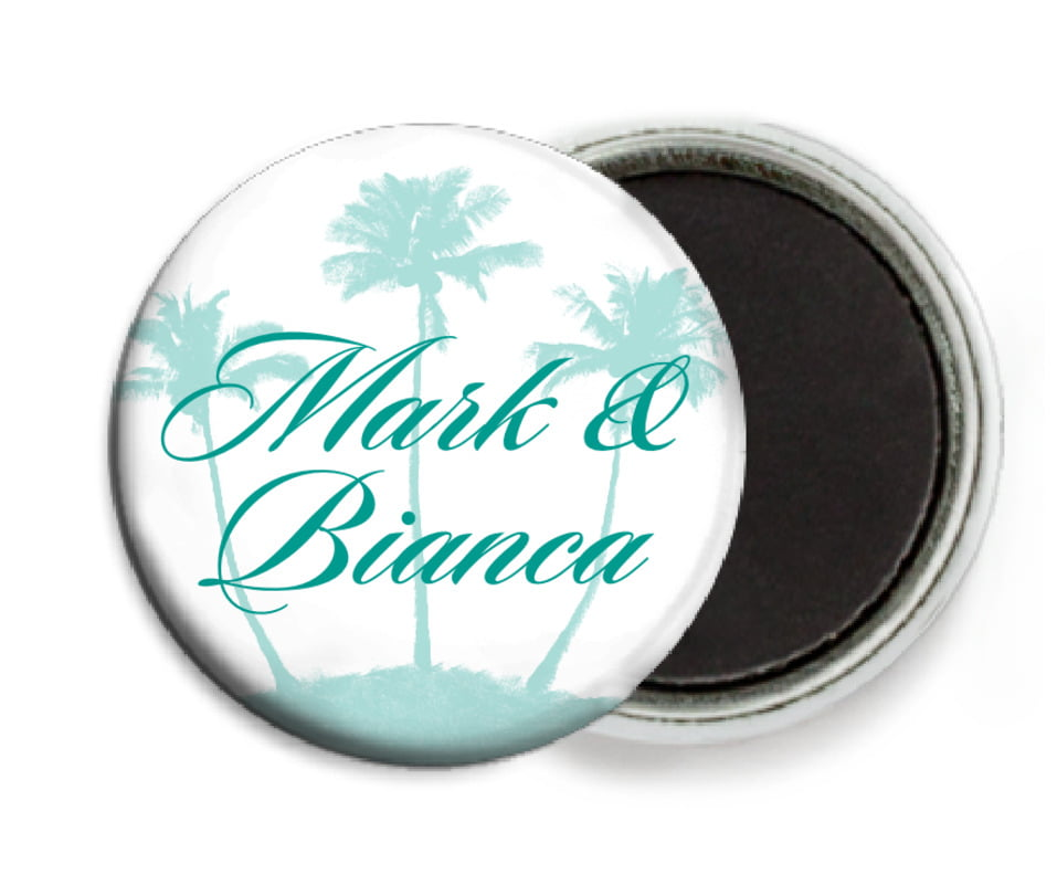 custom button magnets - aruba - coco palms (set of 6)