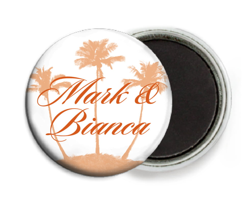 custom button magnets - spice - coco palms (set of 6)