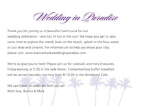 custom enclosure cards - lilac - coco palms (set of 10)