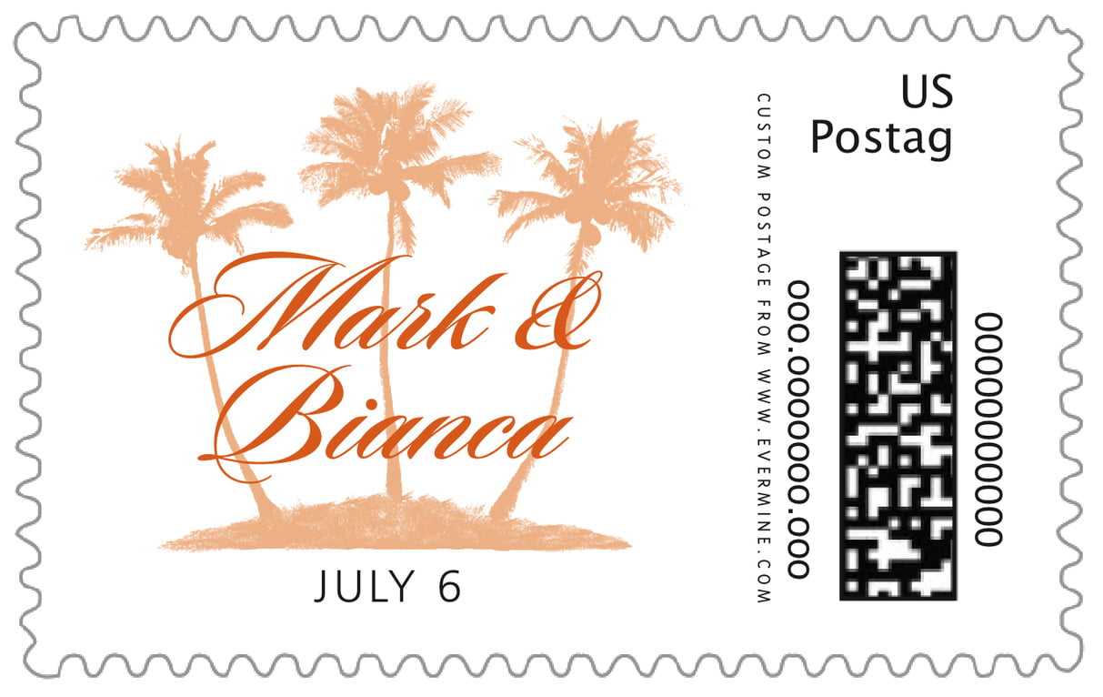 custom large postage stamps - spice - coco palms (set of 20)
