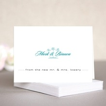 Coco Palms wedding note cards