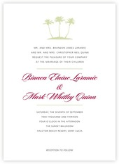Coco Palms invitations