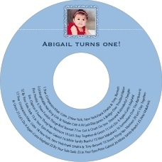 Cara baby CD/DVD labels