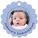 Cara Scallop Hang Tag In Periwinkle