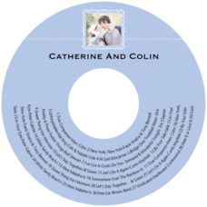 Cara Cd Label In Periwinkle