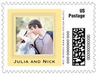 Cara photo postage stamps