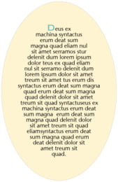 Cara oval text labels