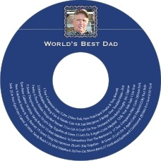 Cara Cd Label In Deep Blue