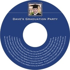 Cara graduation CD/DVD labels