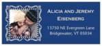 Cara Designer Address Label In Deep Blue
