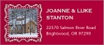 Cara Designer Address Label In Deep Red