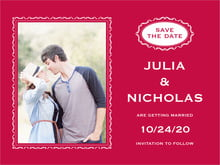 custom save-the-date cards - deep red - cara (set of 10)