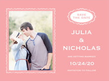 custom save-the-date cards - grapefruit - cara (set of 10)