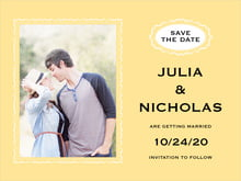custom save-the-date cards - sunburst - cara (set of 10)