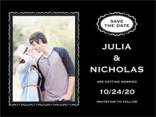 custom save-the-date cards - tuxedo - cara (set of 10)