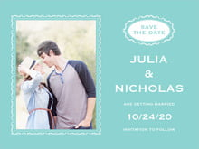 custom save-the-date cards - aruba - cara (set of 10)