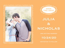 custom save-the-date cards - melon - cara (set of 10)