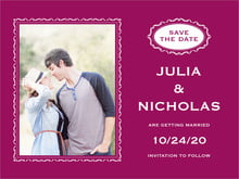 custom save-the-date cards - burgundy - cara (set of 10)