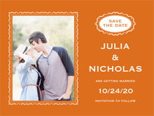 custom save-the-date cards - spice - cara (set of 10)