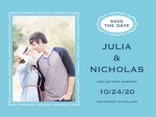 custom save-the-date cards - sky - cara (set of 10)