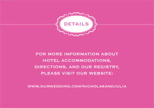 custom enclosure cards - bright pink - cara (set of 10)