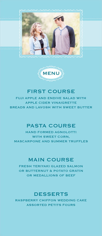 custom menus - bahama blue - cara (set of 10)