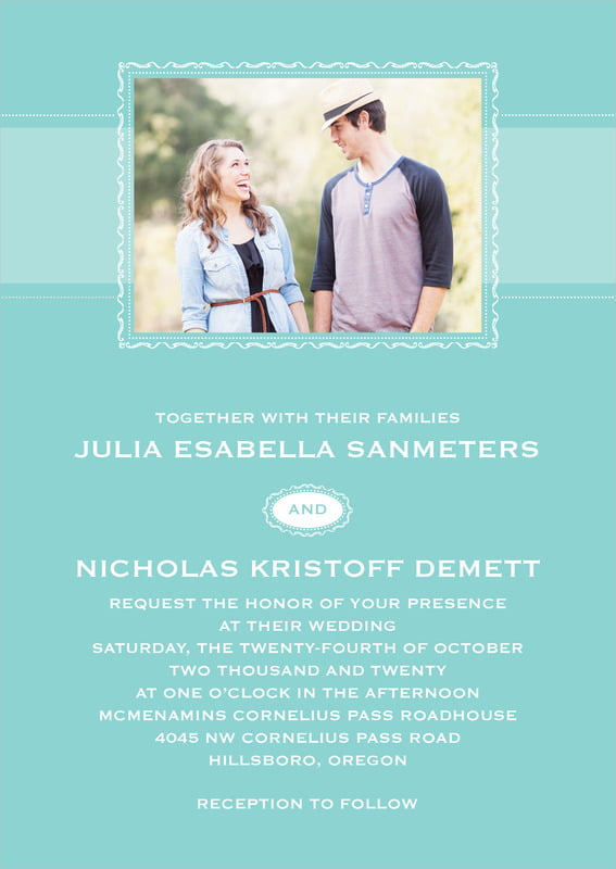 custom invitations - aruba - cara (set of 10)