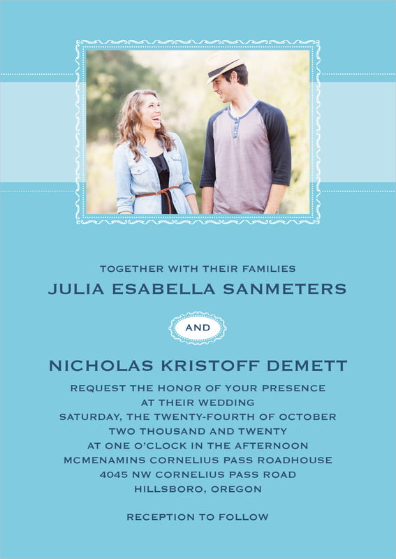 custom invitations - sky - cara (set of 10)