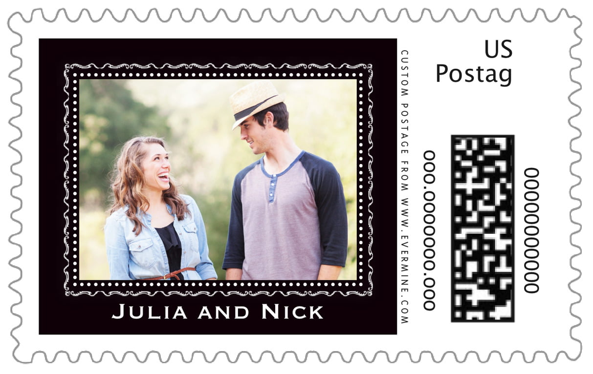 custom large postage stamps - tuxedo - cara (set of 20)