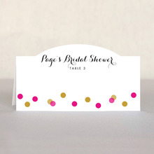 Champagne Place Card In Bright Pink