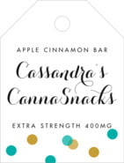 Champagne small luggage tags