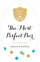 Champagne large oval hang tags
